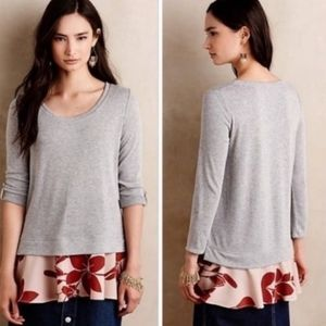 Anthropologie Layered Swing Blouse